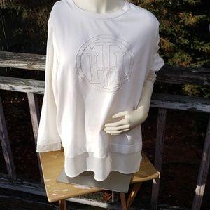 Tommy Hilfiger unique cream monogram sweatshirt.